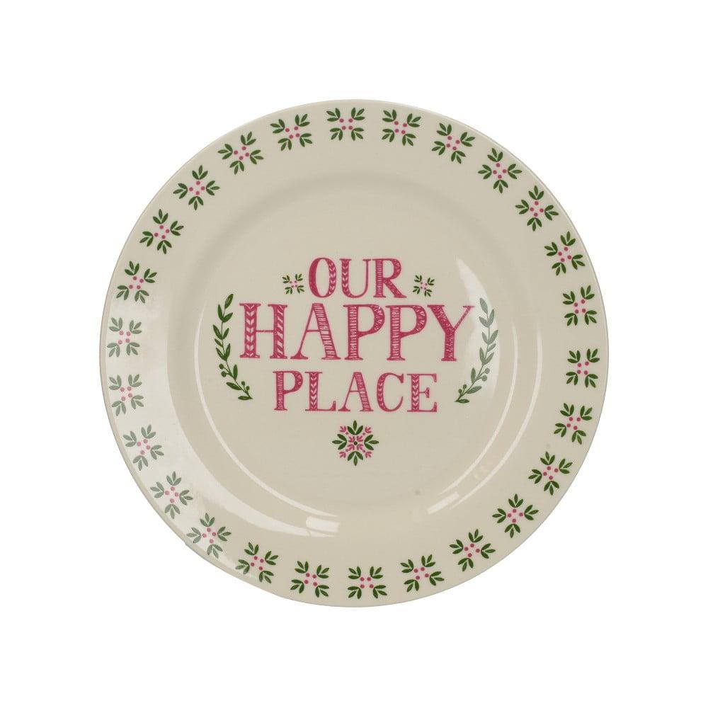 Keramický jedálenský tanier Creative Tops Stir It Up Happy
