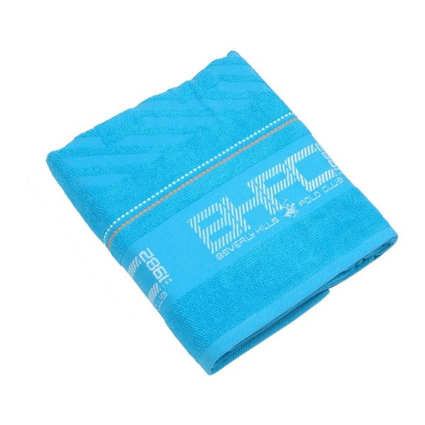 Modrá bavlnená osuška BHPC, 80x150cm