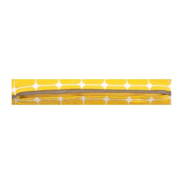 Vankúš s výplňou Tiles Yellow, 50x30 cm