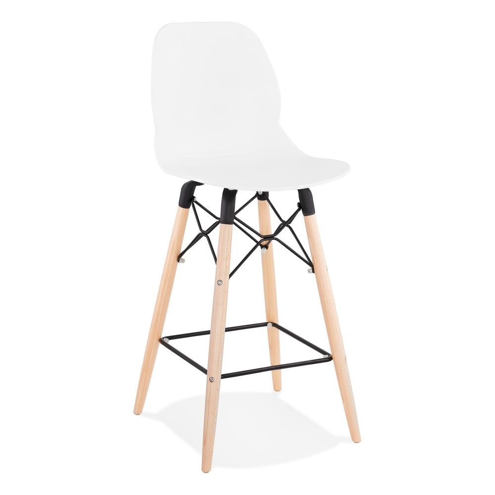 Biela barová stolička Kokoon Marcel Mini, výška sedu 68 cm