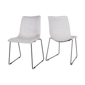 Svetlosivá jedálenská stolička Canett Delta