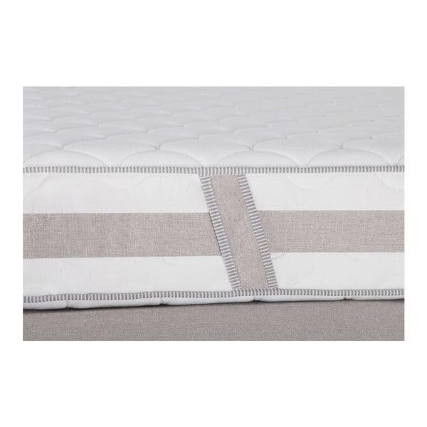 Svetlosivá posteľ s matracom Stella Cadente Saturne Forme, 160x200cm