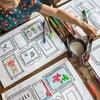 Sada 4 prestieraní na vymaľovanie Doodle, rámčeky