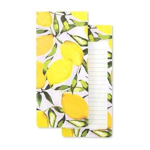 Žltý poznámkový blok GO Stationery Lemons