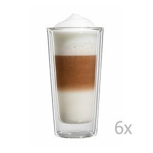 Sada 6 veľkých pohárov na latte macchiato bloomix Milano