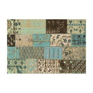 Zeleno-hnedý koberec s prímesou bavlny Cotex Restar, 140 × 200 cm