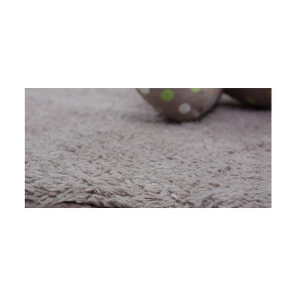 Detský hnedý koberec Nattiot Little Teddy, 80 x 100 cm