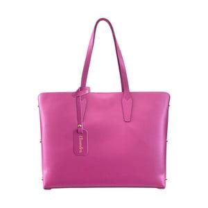 Fuksiová kožená kabelka Maison Bag Nola