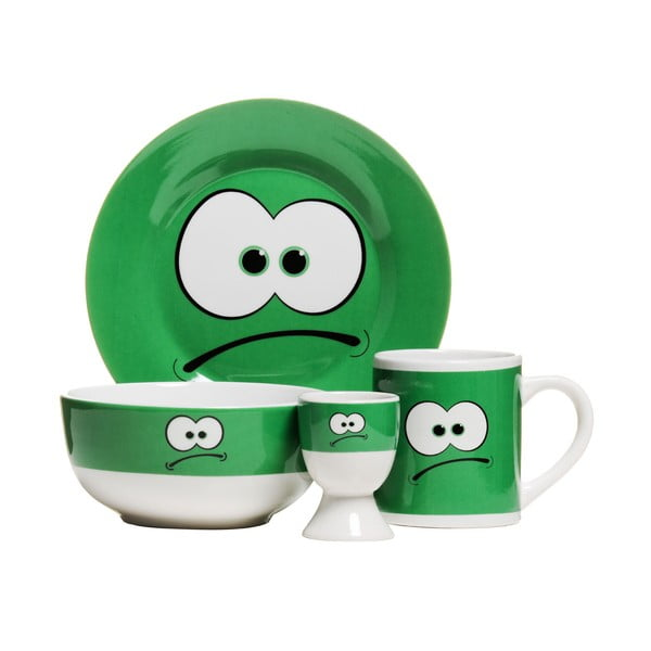 Raňajková sada Premier Housewares Funny Face, 4ks
