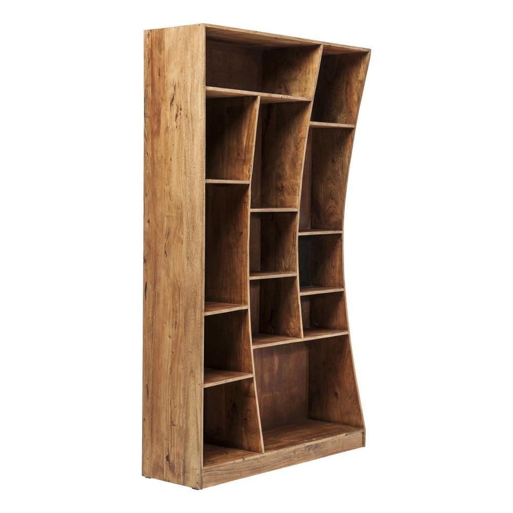 Asymetrická knižnica z akáciového dreva Kare Design Retangollo, ľavá strana