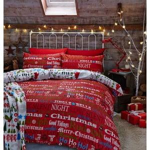 Obliečky Christmas Slogan, 135x200 cm