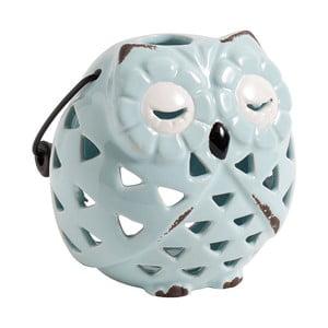 Keramický Svietnik Owl, blankytne modrý