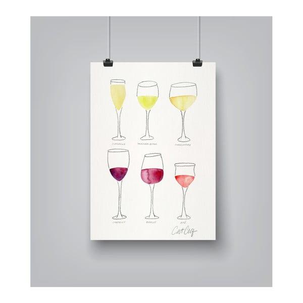 Plagát Americanflat Wine Glass Collection, 30×42cm