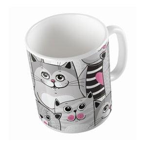 Keramický hrnček Grey Kitties, 330 ml