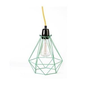 Svetlo so zeleným tienidlom a žltým káblom Filament Style Diamond #1