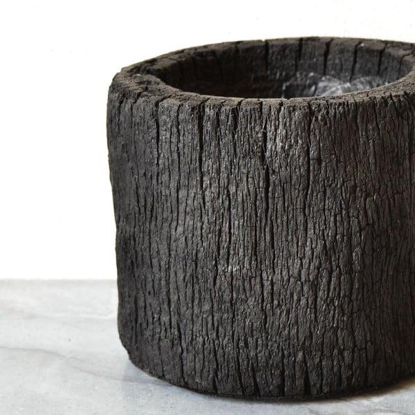 Vypálený palmový kvetináč Wood