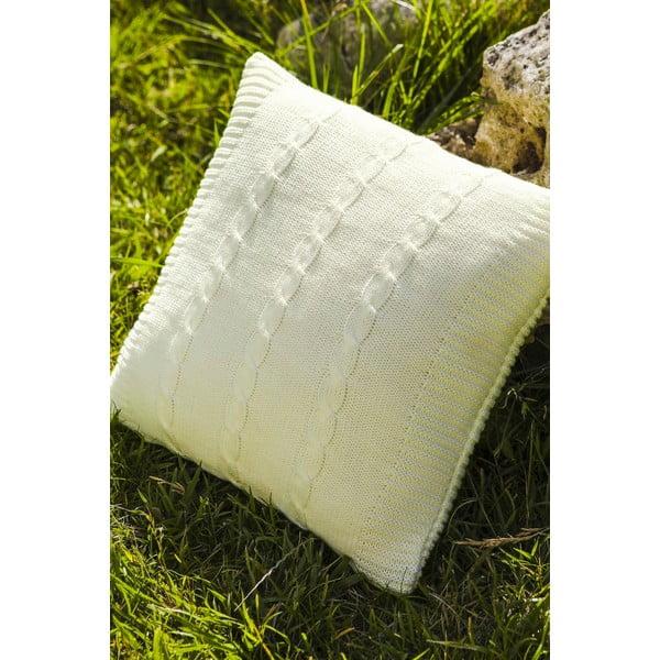Pletená obliečka na vankúš Fancy Bone, 45x45 cm