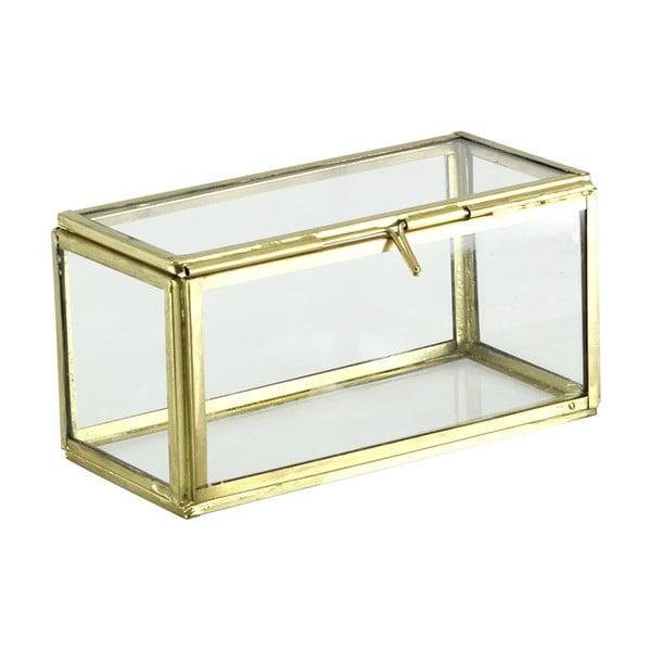 Set 2 sklenených boxov Small Brass