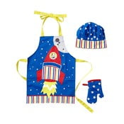 Set detskej zástery, kuchynskej rukavice a čiapky Ladelle Rocket