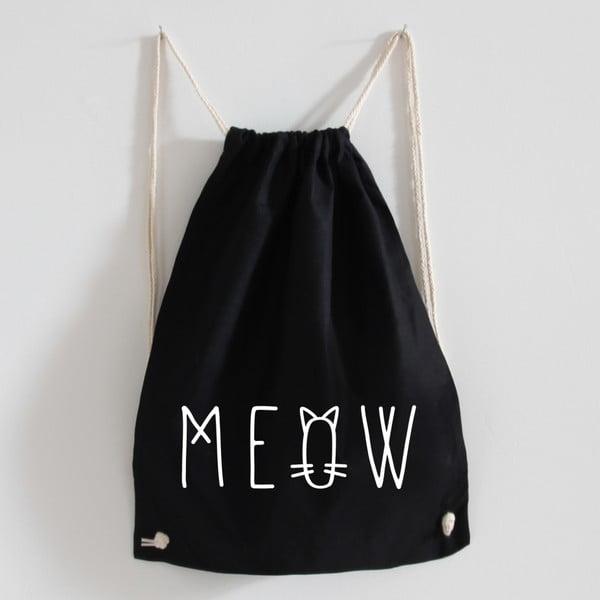 Plátený batoh Meow Black