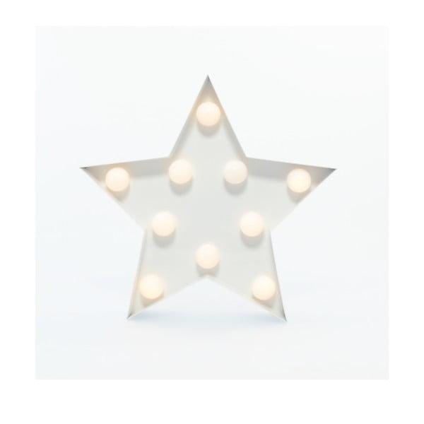 Dekoratívne svetlo Carnival Star, biele