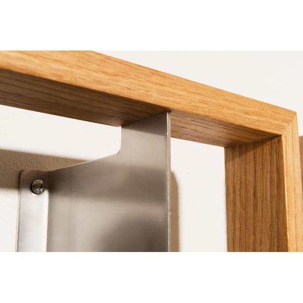 Polica na knihy z dubového dreva das kleine b b7, výška 34cm