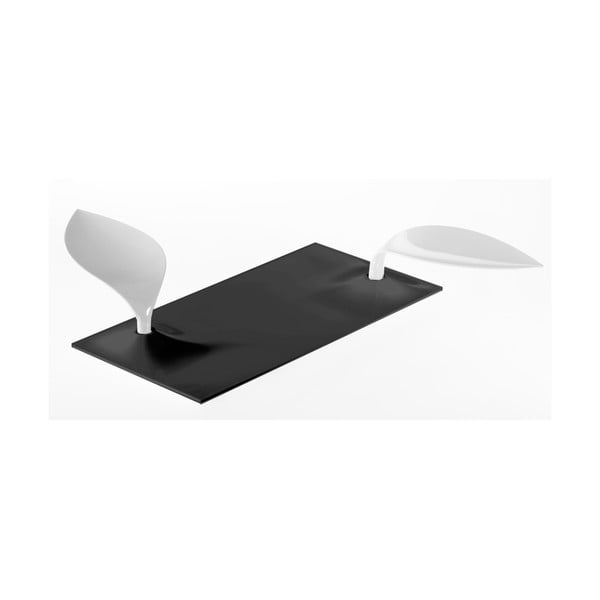 Čierno-biely servírovací podnos Entity Degusto