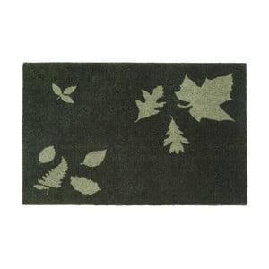 Tmavozelená rohožka Tica Copenhagen Mega Leafes, 60 x 90 cm