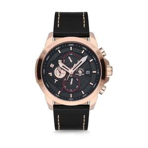 Pánske hodinky s koženým remienkom Santa Barbara Polo & Racquet Club Asia
