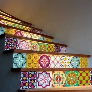 Sada 2 samolepiek na schody Ambiance Stickers Stair Adamaris, 15 x 105 cm