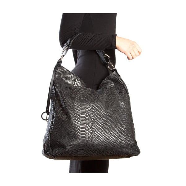 Kožená kabelka Clair, černá