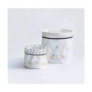 Sada 2 textilných úložných kôšíkov Little Nice Things Bunny