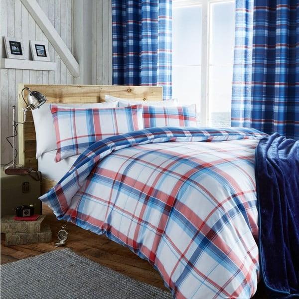 Obliečky St. Ives Check Blue, 200x200 cm