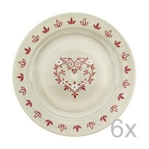 Sada keramických tanierov Heart 28 cm (6 ks)