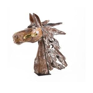 Dekorácie v tvare konskej hlavy z teakového dreva Moycor Erosi
