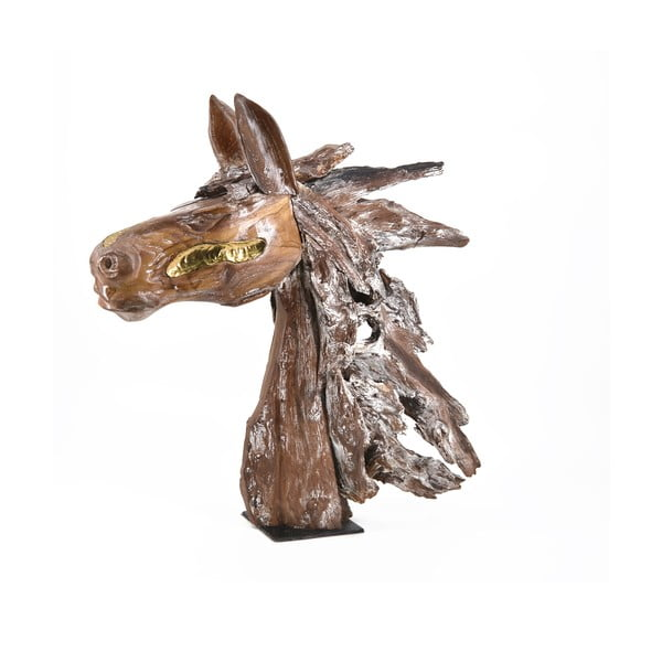 Dekorácia konskej hlavy z teakového dreva Moycor Erosi