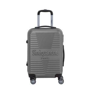 Tmavosivý cestovný kufor na kolieskách s kódovým zámkom SINEQUANONE Rozalina, 44 l