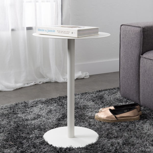 Biely odkladací stolík Elvio
