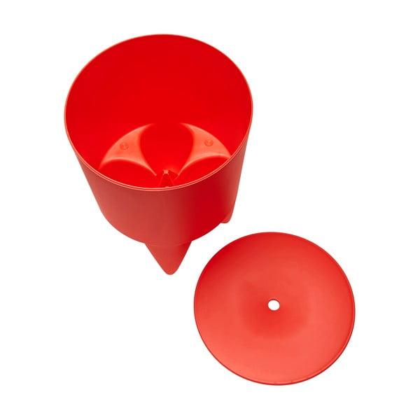 Univerzálny stolík/kôš/chladič na ľad Bubu, červený