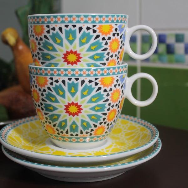 Sada 2 šálok s tanierikom Maroko B, 280 ml