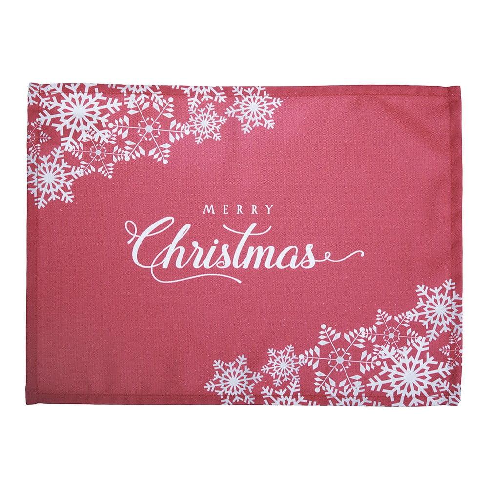 Sada 2 červených prestieraní s vianočným motívom Apolena Honey Merry Christmas, 33 × 45 cm