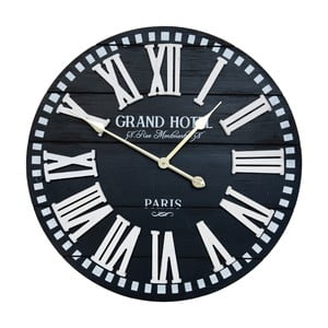 Čierne nástenné hodiny Clayre & Eef