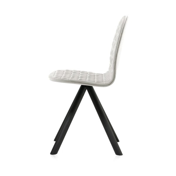Krémovobiela stolička s čiernymi nohami IKER Mannequin Triangle