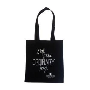 Bavlnená taška O My Bag Not Ordinary, čierna