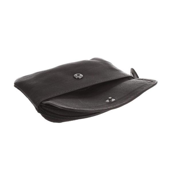 Kožená peňaženka na mince Keeper Black