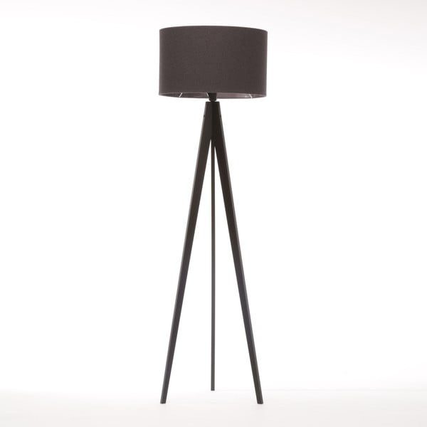 Stojacia lampa Artist Dark Grey Felt/Black Birch, 125x42 cm