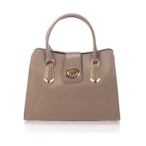 Béžová kožená kabelka Lisa Minardi Dulcia