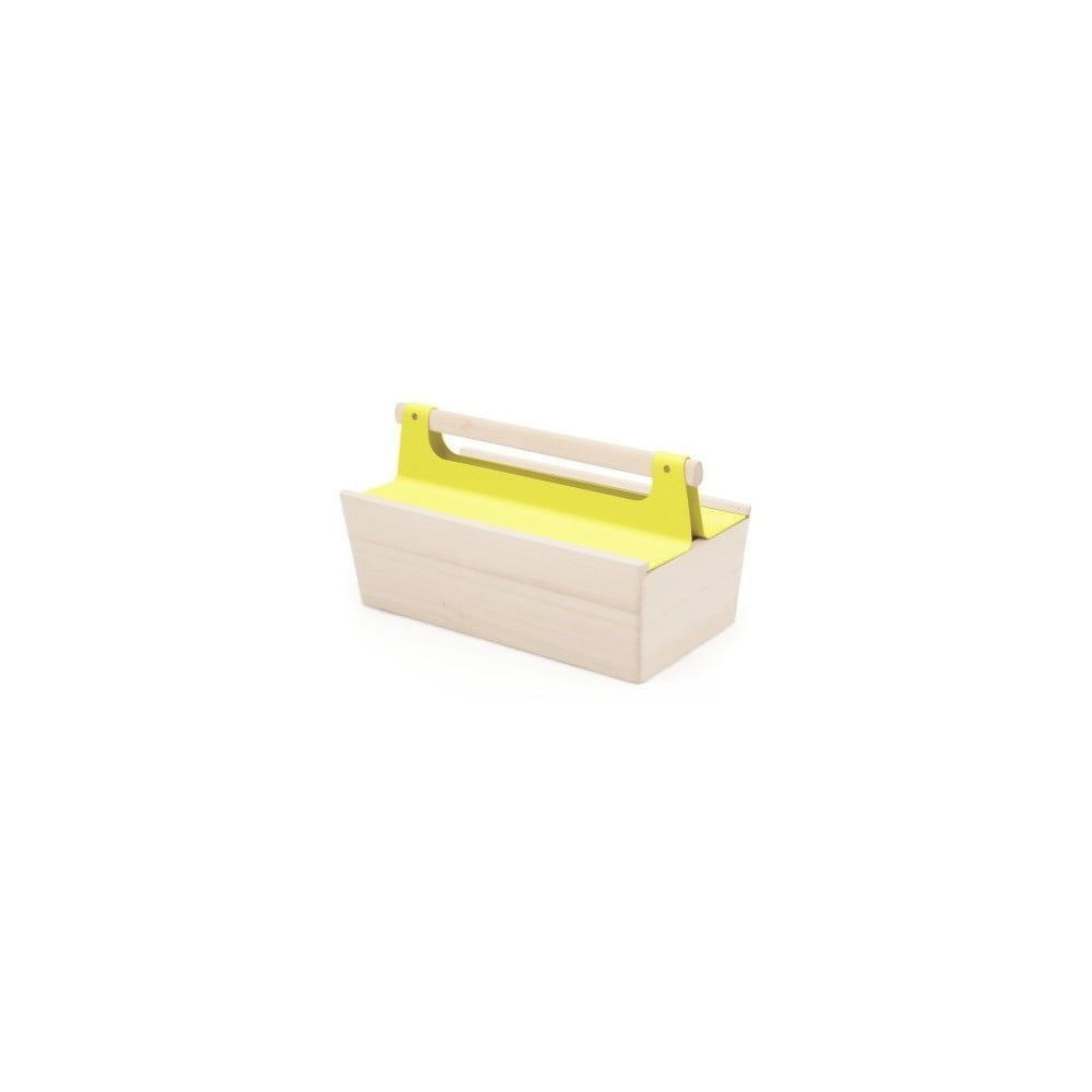 Žltý úložný box z jaseňového dreva na náradie HARTÔ