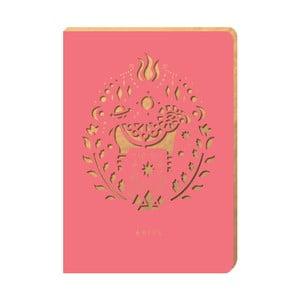 Linajkový zápisník Portico Designs Baran, 160stránok