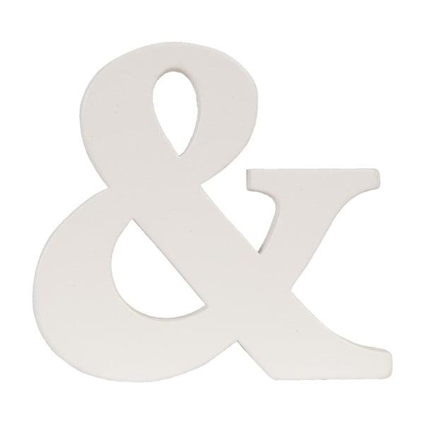 Dekoratívne písmeno &, 9x8 cm